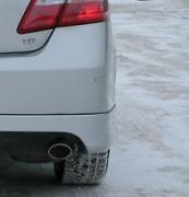 Насадка на глушитель нержавейка для Toyota Camry 40 (2006 - 2011)