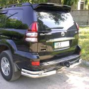 Углы двойные заднего бампера для Toyota Prado 120 (2003 - 2008)