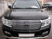 Накладка на решетку радиатора для Toyota Land Cruiser 200 (2007 - ...)
