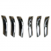 Хром накладки на решетку радиатора для Toyota Prado 150 (2009 - ...)