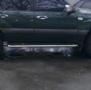 Tрубки под пороги для Toyota Land Cruiser 100 (98 - 2006)