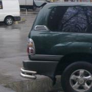 Хром накладки на воздухообдувы задних стоек для Toyota Land Cruiser 100 (98 - 2006)