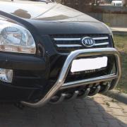Кенгурятник с зубьями для Kia Sportage II (2005 - 2009)