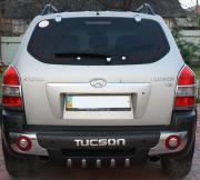 Накладка на задний бампер (губа) для Hyundai Tucson (2004 - 2014)