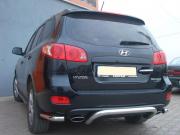 Дуга заднего бампера с углами для Hyundai Santa Fe (2006 - 2012)