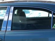 Хром накладки дверных стоек для Toyota Camry 40 (2006 - 2011)