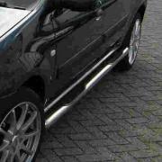 Боковые пороги (трубы) для Dacia Logan MCV (2005 - ...)