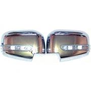 Хромированные накладки на зеркала с повторителями для Mitsubishi L200 (2006 - 2015)