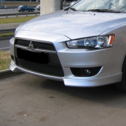 Клыки на передний бампер для Mitsubishi Lancer X (2007 - ...)