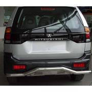 Дуга заднего бампера с изгибом для Mitsubishi Pajero Sport (1997 - 2008)