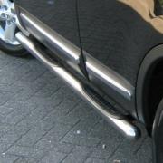 Боковые пороги (трубы) для Nissan Qashqai (2007 - 2014)