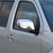 Хром накладки на зеркала для Nissan Pathfinder (2005 - 2010)