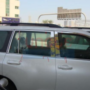 Хром накладки на стойки дверей для Toyota Prado 150 (2009 - ...)