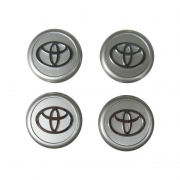 Колпачки в диски хром (или серебро) для Toyota Corolla (2002 - 2007)