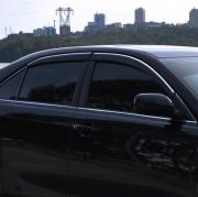 Дефлекторы дверей (ветровики) с хром молдингом для Toyota Camry 40 (2006 - 2011)