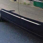 Молдинги дверей с хромовым кантом для Toyota Camry 40 (2006 - 2011)