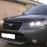 Дефлектор капота (мухобойка) для Hyundai Santa Fe (2006 - 2012)
