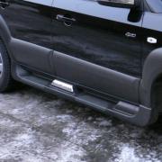 Пороги (пластиковые) для Hyundai Tucson (2004 - 2014)