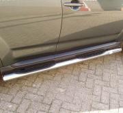 Боковые пороги (трубы) для Mitsubishi Outlander XL (2007 - ...)