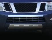 Накладка на передний бампер для Nissan Navara (2005 - 2014)