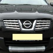 Накладки на решетку радиатора для Nissan Qashqai (2007 - 2014)