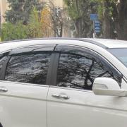 Ветровики с хромом для Honda CR-V (2007 - 2011)