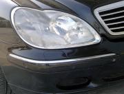Хром передних фар для Mercedes W220 (1998 - 2006)