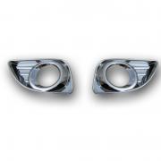 Хром накладки на противотуманки (c 2010) для Toyota Camry 40 (2006 - 2011)