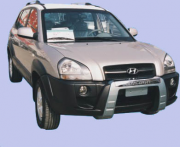 Накладка на передний бампер для Hyundai Tucson (2004 - 2014)
