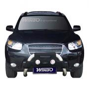 Кенгурятник с доп. фарами для Hyundai Santa Fe (2006 - 2012)