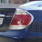 Хром накладки на задние фонари для Toyota Camry 30 (2002 - 2006)