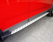 Боковые пороги (стиль BMW) для Kia Sorento (2010 - 2015)