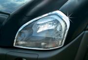 Хром на передние фары для Hyundai Tucson (2004 - 2014)