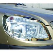 Хром накладки на фары 2006 - 2009 для Fiat Doblo (2001 - 2009)