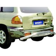 Защита заднего бампера для Hyundai Santa Fe (2002 - 2005)