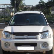 Дефлектор капота (мухобойка) для Hyundai Santa Fe (2002 - 2005)