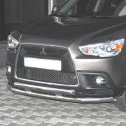 Дуга переднего бампера (двойная) для Mitsubishi ASX (2010 - ...)