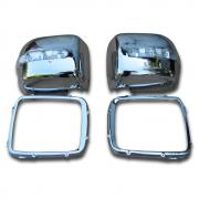 Хром на зеркала с повторителями поворотов для Mercedes Gelandewagen (1986 - 2012)