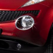 Хром накладки на передние фары для Nissan Juke (2011 - ...)