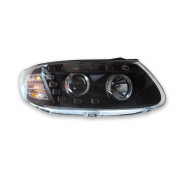 Передние фары (темные) для Hyundai Santa Fe (2006 - 2012)