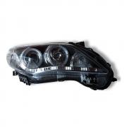Фары передние темные с диодной полосой (2010+) для Toyota Corolla (2007 - 2012)