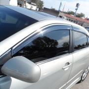 Ветровики с хромовым молдингом для Toyota Camry 40 (2006 - 2011)