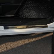 Накладки на пороги для Nissan Qashqai (2007 - 2014)