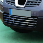 Решетка переднего бампера для Nissan Qashqai (2007 - 2014)