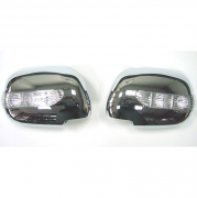 Хром на зеркала с повторителями поворотов для Toyota Hilux (2006 - 2015)