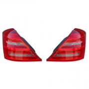 Задние диодные фонари (светлые) для Mercedes W221 (2007 - ...)