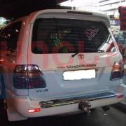 Антикрыло (спойлер) на крышку багажника для Toyota Land Cruiser 100 (98 - 2006)