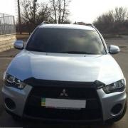 Дефлектор капота (2010+) для Mitsubishi Outlander XL (2007 - ...)