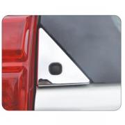 Хром накладки на заднее стекло - уголки для Toyota Prado 150 (2018 - ... )