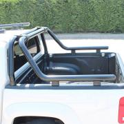 Дуга в багажник (76 мм, темный хром) для Volkswagen Amarok (2010 - ...)